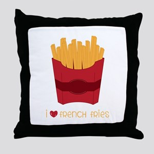 Love French Fries Throw Pillow