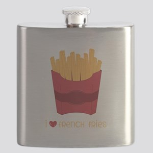 Love French Fries Flask