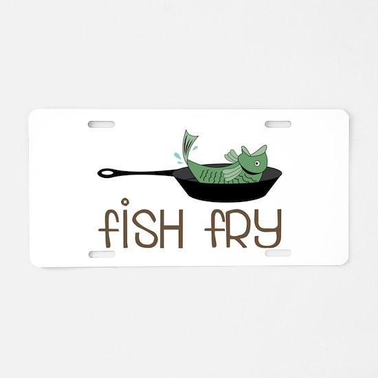 Fish Fry Aluminum License Plate