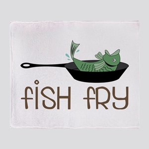 Fish Fry Throw Blanket