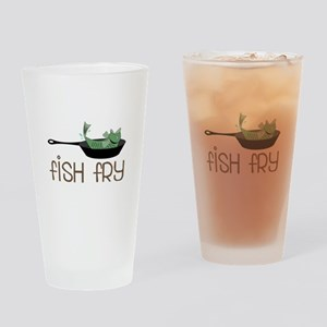 Fish Fry Drinking Glass