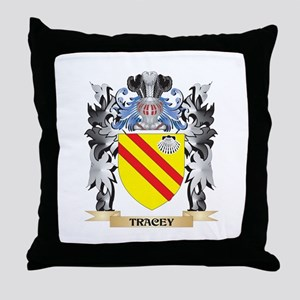 Tracey Coat of Arms - Family Crest Throw Pillow