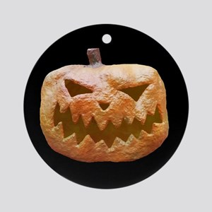 Jack-O-Lantern Round Ornament