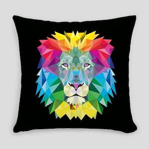 Rainbow Lion Everyday Pillow