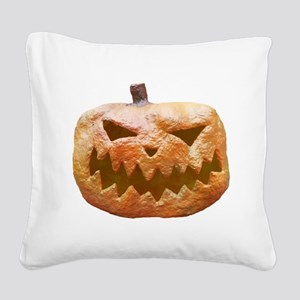 Jack-O-Lantern Square Canvas Pillow