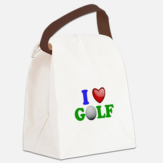 I Heart Golf Canvas Lunch Bag