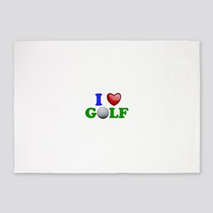 I Heart Golf 5'x7'Area Rug