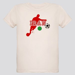 Iran Football Player Organic Kids T-Shirt