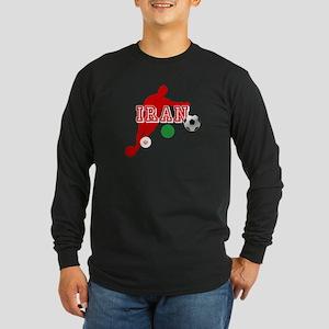 Iran Football Player Long Sleeve Dark T-Shirt