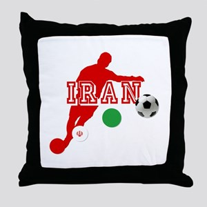 Iran Football Player Throw Pillow