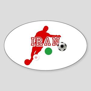 Iran Football Player Sticker (Oval)
