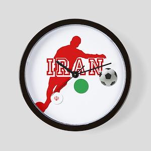 Iran Football Player Wall Clock