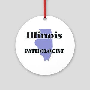 Illinois Pathologist Round Ornament