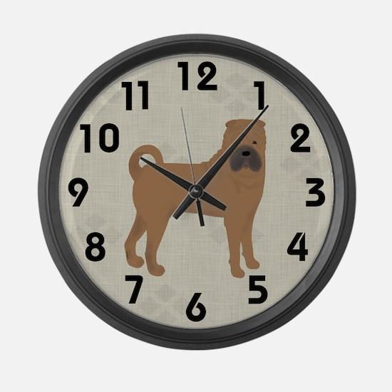 Shar Pei Large Wall Clock