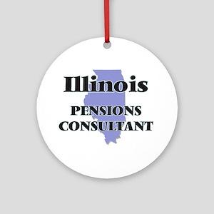 Illinois Pensions Consultant Round Ornament