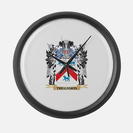 Tregaskis Coat of Arms - Family C Large Wall Clock