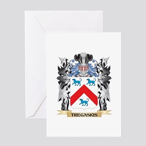 Tregaskis Coat of Arms - Family Cre Greeting Cards