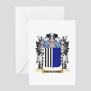 Trenchard Coat of Arms - Family Cre Greeting Cards