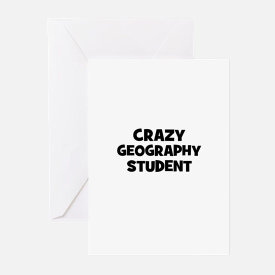 Crazy Geography Student Greeting Cards (Pk of 10)