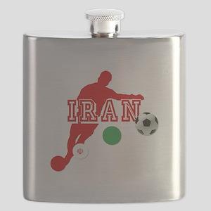 Iran Football Player Flask