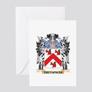 Trethowan Coat of Arms - Family Cre Greeting Cards