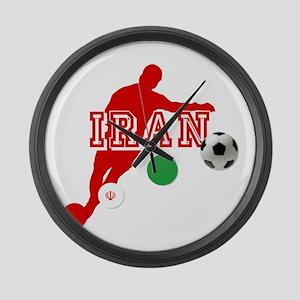 Iran Football Player Large Wall Clock