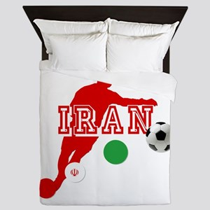 Iran Football Player Queen Duvet