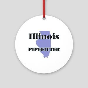 Illinois Pipefitter Round Ornament