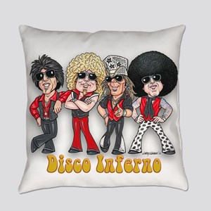Disco Inferno Cartoon 1 Everyday Pillow