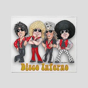 Disco Inferno Cartoon 1 Throw Blanket