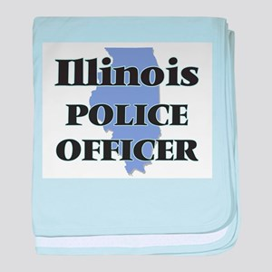 Illinois Police Officer baby blanket