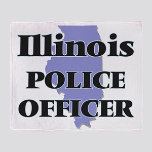 Illinois Police Officer Throw Blanket