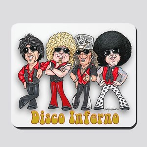 Disco Inferno Cartoon 1 Mousepad