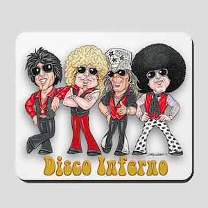 Disco Inferno Cartoon 1 Mousepad