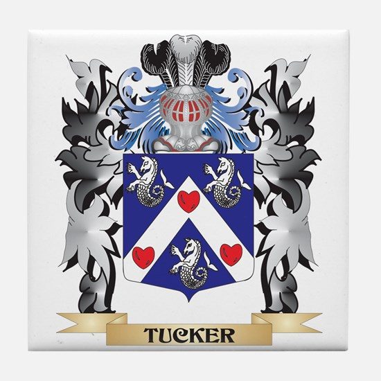 Tucker Coat of Arms - Family Crest Tile Coaster