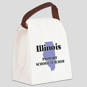 Illinois Primary School Teacher Canvas Lunch Bag