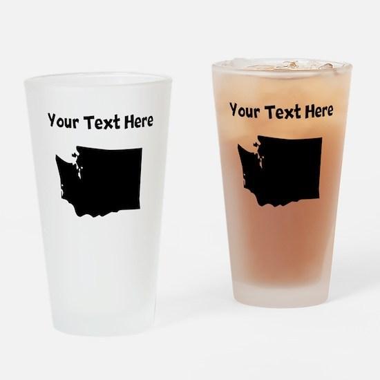 Custom Washington Silhouette Drinking Glass