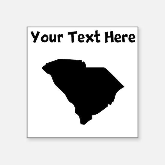 Custom South Carolina Silhouette Sticker