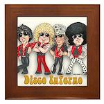 Disco Inferno Cartoon 1 Framed Tile