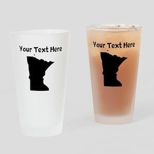 Custom Minnesota Silhouette Drinking Glass