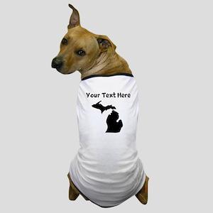Custom Michigan Silhouette Dog T-Shirt