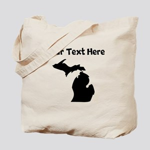 Custom Michigan Silhouette Tote Bag