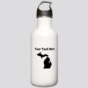 Custom Michigan Silhouette Water Bottle