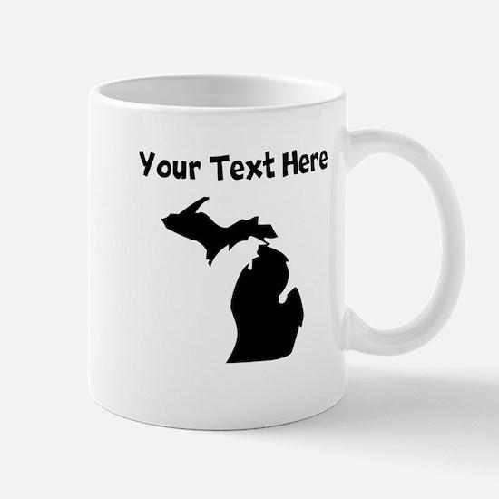 Custom Michigan Silhouette Mugs