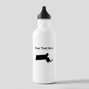 Custom Massachusetts Silhouette Water Bottle