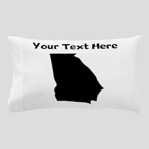 Custom Georgia Silhouette Pillow Case