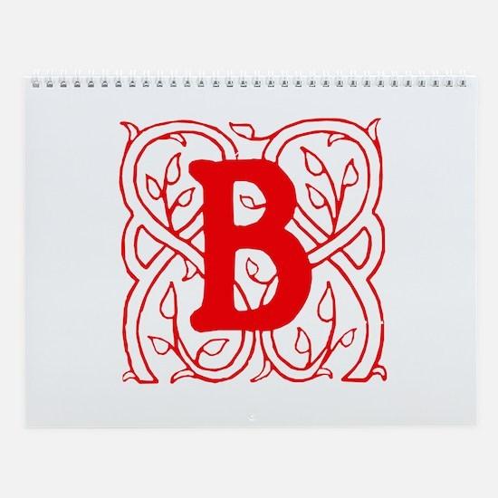Initial B Wall Calendar