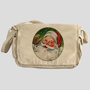 Vintage Santa Face 1 Messenger Bag