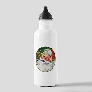 Vintage Santa Face 1 Water Bottle