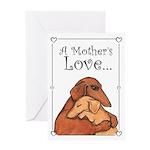 Adopted Dog Mom Greeting Card
